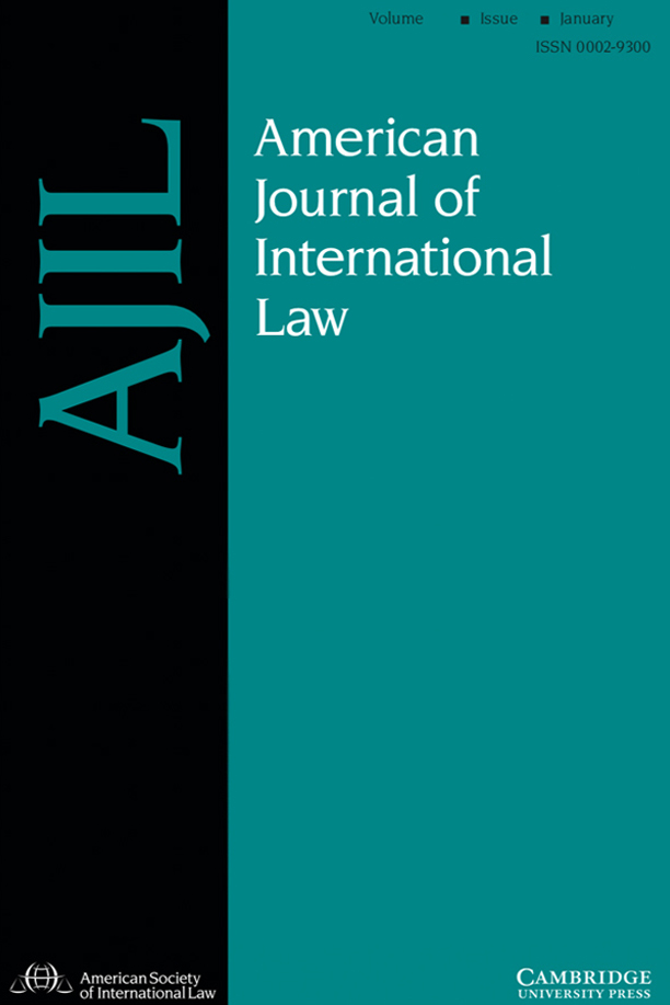 American Journal of International Law